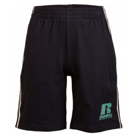Russell Athletic STRIPED SHORT black - Children's Shorts - Russell Athletic