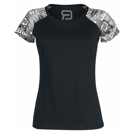 RED by EMP - Short Raglan Road - Girls shirt - black