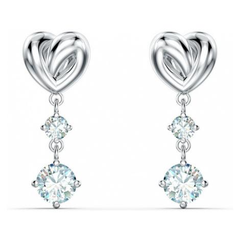 Swarovski Lifelong White Crystal Heart Earrings