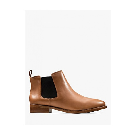 Clarks Taylor Shine Slip On Leather Ankle Boots