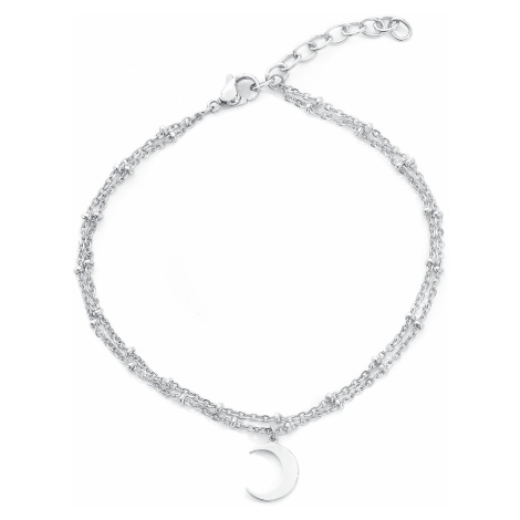 Wildcat - Moon Multilayer Ankle Chain - Ankle chain - silver-coloured