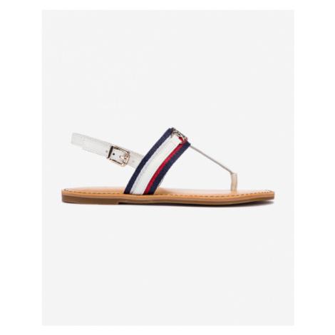 Tommy Hilfiger Shimmery Ribbon Flat Sandals White