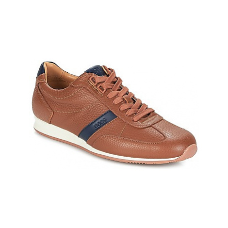 BOSS ORLAND LOWP TB men's Shoes (Trainers) in Brown Hugo Boss
