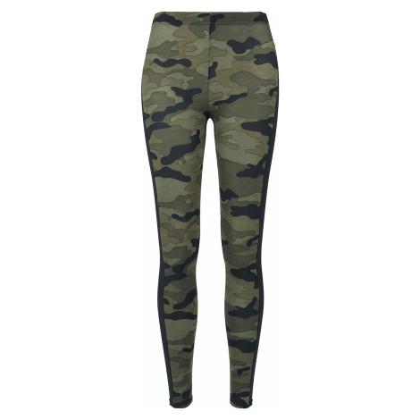 Urban Classics - Ladies Camo Stripe Leggings - Leggings - woodland/black