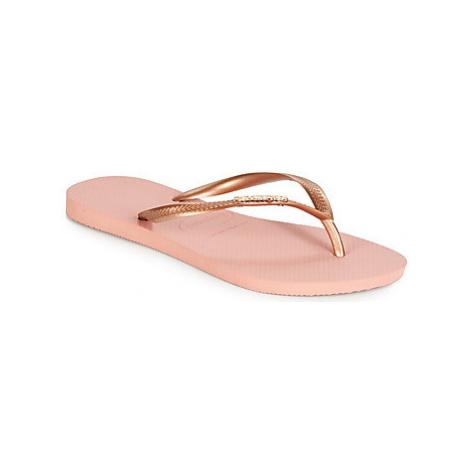 Havaianas SLIM LOGO METALLIC women's Flip flops / Sandals (Shoes) in multicolour