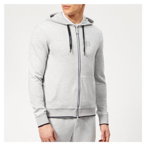 Armani Exchange Men's Small Logo Zip Hoody - Heather Grey - Grey