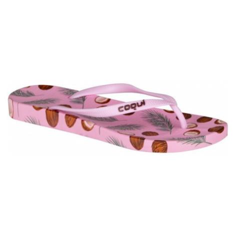 Coqui KAJA PRINTED pink - Women's flip-flops