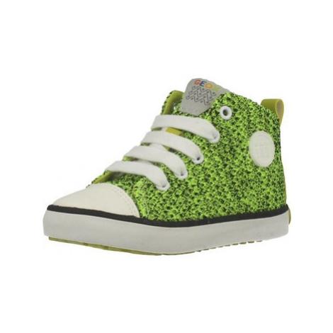 Geox B KILWI B.I girls's Children's Shoes (High-top Trainers) in Green