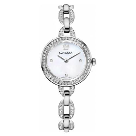 Aila Mini Watch, Metal bracelet, Stainless steel Swarovski