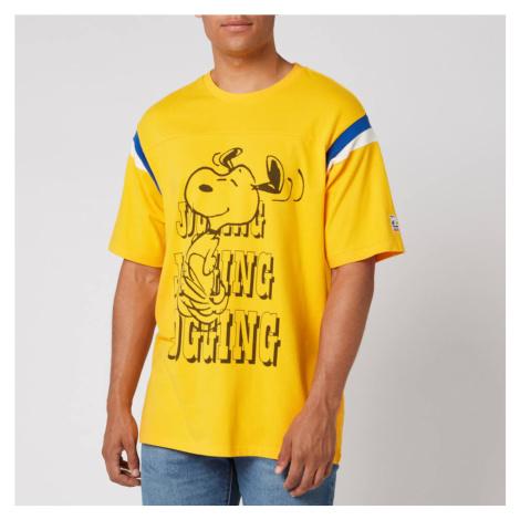 Levi's X Peanuts Men's Football T-Shirt Jogging Snoopy - Gold Fusion