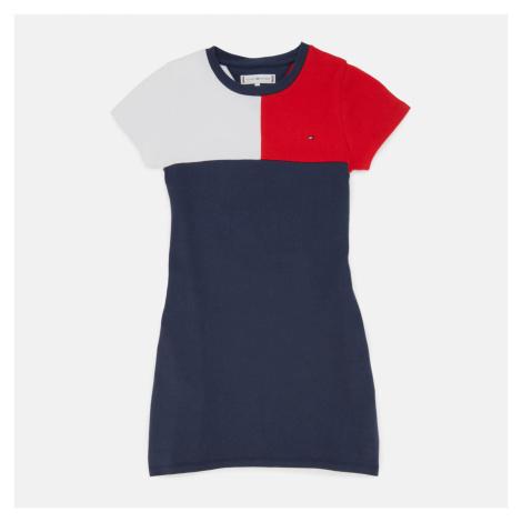 Tommy Hilfiger Girls' Stripe Rib Dress - Navy