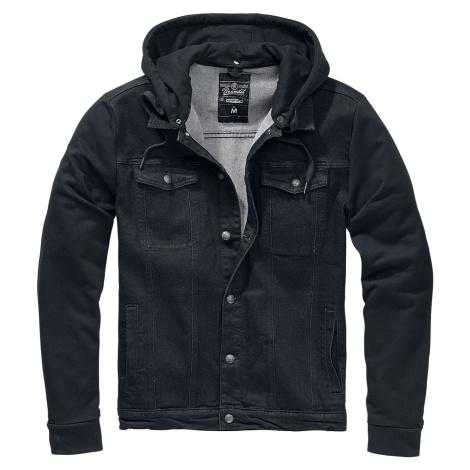 Brandit Cradock Denim Hooded Vest Hooded zip black