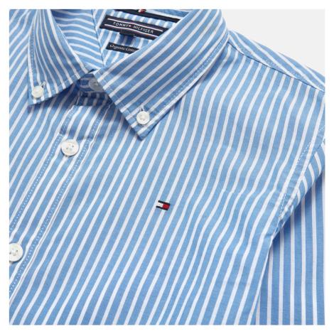 Tommy Kids Boys' Long Sleeve Stripe Shirt - Shirt Blue Tommy Hilfiger