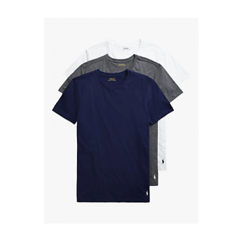 Polo Ralph Lauren Cotton Jersey Lounge T-Shirt, Pack of 3, Navy/Grey/White