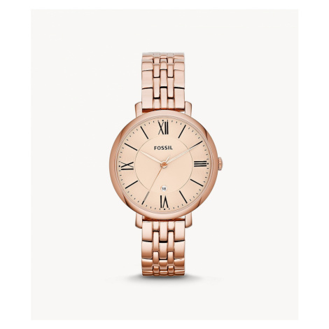 Fossil Women's Jacqueline Rose-Tone Stainless Steel Watch