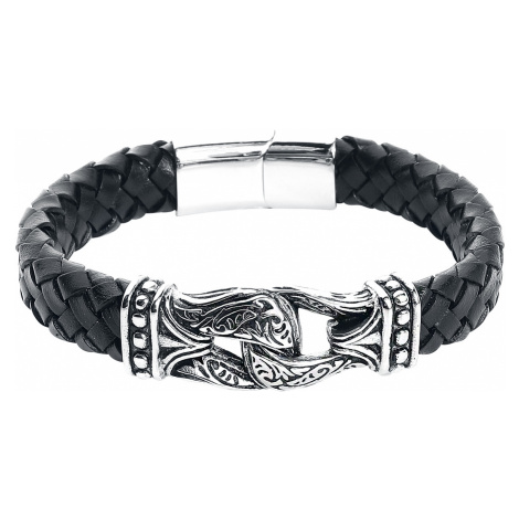 Viking - - Leather bracelet - black