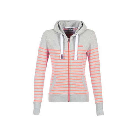 Superdry SUN SEA ZIPHOOD women's Sweatshirt in Grey