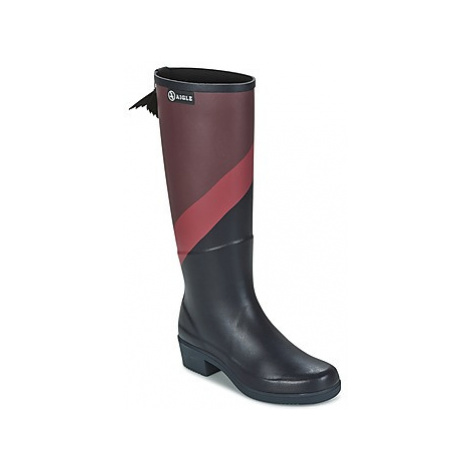 Aigle MISS JULIETTE PRINT women's Wellington Boots in Black