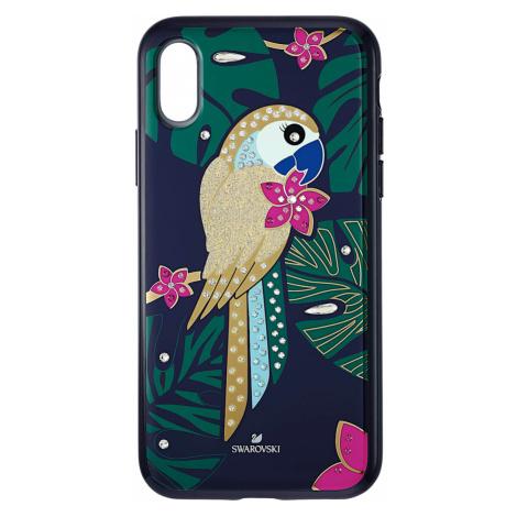 Tropical Parrot Smartphone Case with Bumper, iPhone® XS Max, Dark multi-coloured Swarovski