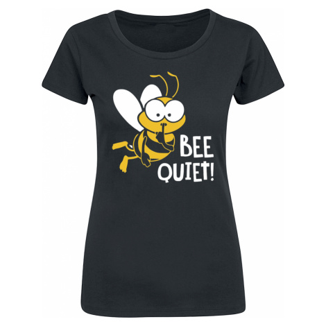 Bee Quiet - - Girls shirt - black