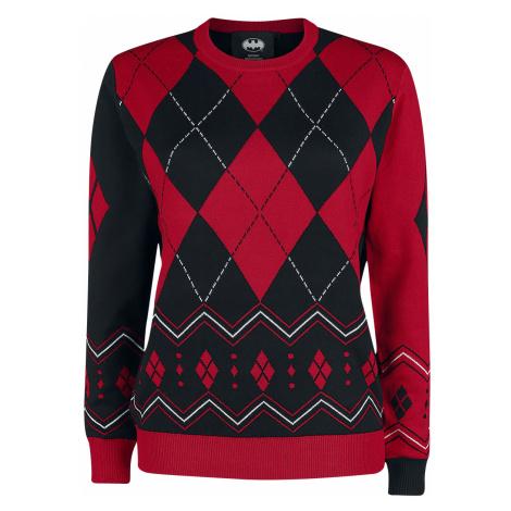 Harley Quinn - Diamonds - Knit sweater - red-black