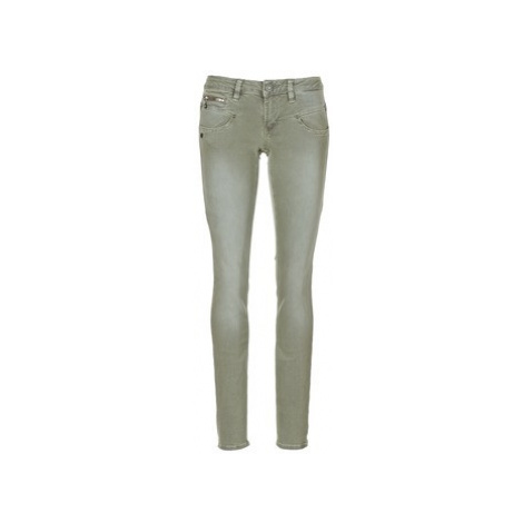 Freeman T.Porter ALEXA SLIM MAGIC COLOR women's Trousers in Kaki Freeman T. Porter