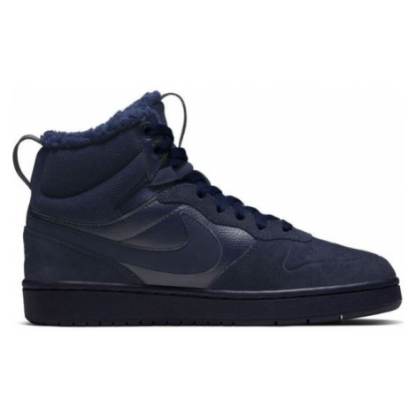 Nike COURT BOROUGH MID 2 BOOT BG blue - Kids' leisure footwear