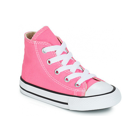 Converse ALL STAR HI girls's Children's Shoes (High-top Trainers) in Pink