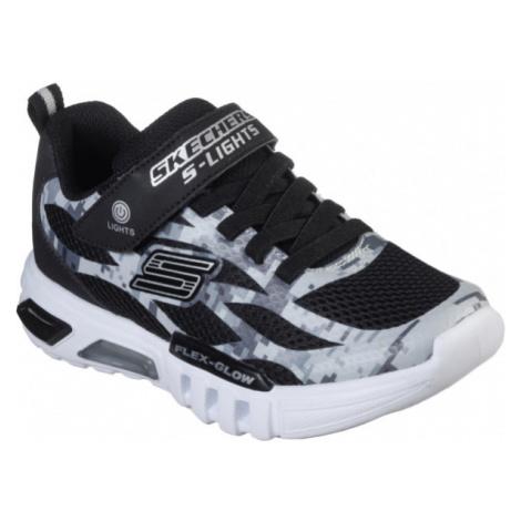 Skechers S LIGHTS: FLEX-GLOW black - Boys flashing sneakers