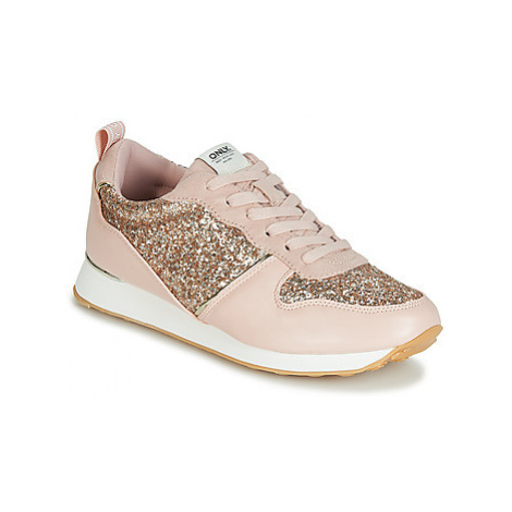 Only SILLIE GLITTER women's Shoes (Trainers) in Pink
