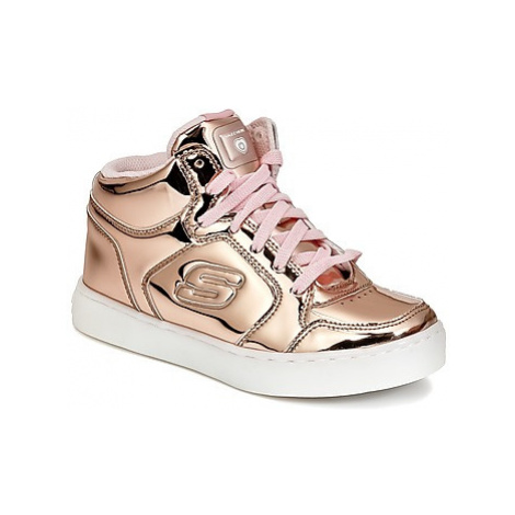 Skechers ENERGY LIGHTS girls's Children's Shoes (High-top Trainers) in Pink
