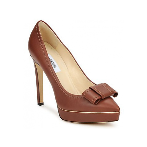 Moschino MA1009 women's Court Shoes in Brown