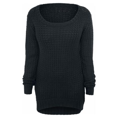 RED by EMP - Long Wideneck Sweater - Girls Sweater - black