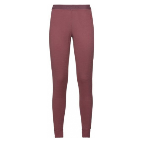 Odlo SUW BOTTOM PANT NATURAL 100% MERINO WARM red - Women's functional pants