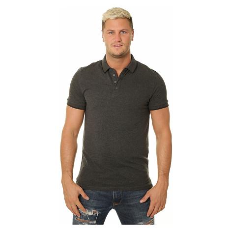 T-Shirt 4F H4Z19-TSM011 Polo - 23M/Dark Gray Melange - men´s