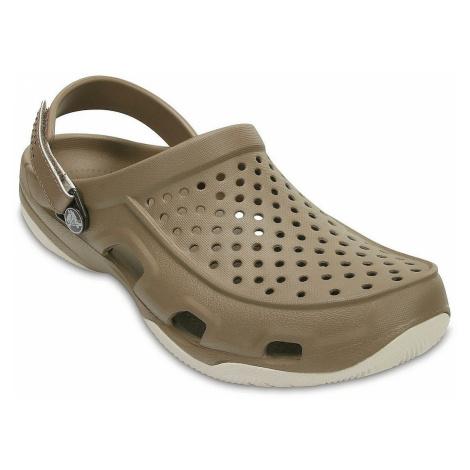 shoes Crocs Swiftwater Deck Clog - Khaki/Stucco