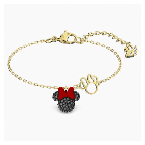 Minnie Bracelet, Black, Gold-tone plated Swarovski