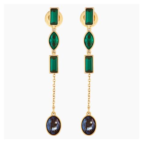 Beautiful Earth by Susan Rockefeller Pierced Earring Jackets, Short, Dark multi-coloured, Gold-t Swarovski