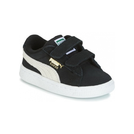 Puma SUEDE 2 STRAPS INF girls's Children's Shoes (Trainers) in Black
