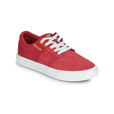 Supra STACKS VULC II women's Shoes (Trainers) in Red