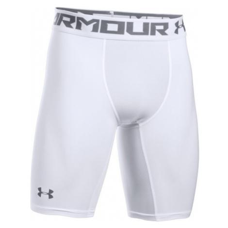 Under Armour HG ARMOUR 2.0 LONG SHORT white - Men's compression shorts