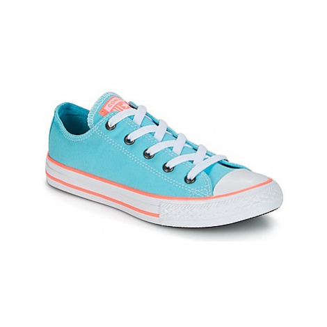 Converse Chuck Taylor All Star-Ox girls's Children's Shoes (Trainers) in Blue