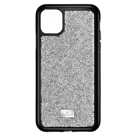 Glam Rock Smartphone Case with Bumper, iPhone® 11 Pro Max, Silver Tone Swarovski