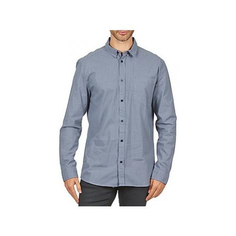 Wesc YANIK men's Long sleeved Shirt in Blue