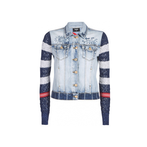 Desigual SAILOR LOVER women's Denim jacket in Blue