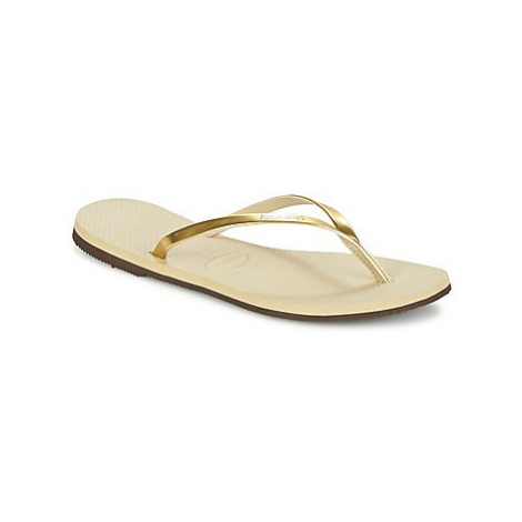 Havaianas YOU METALLIC women's Flip flops / Sandals (Shoes) in Gold