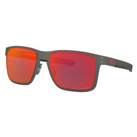 Oakley Man OO4123 Holbrook™ Metal - Frame color: Silver, Lens color: Red, Size 55-18/132