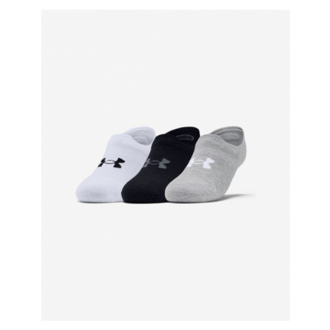 Under Armour Ultra Lo Set of 3 pairs of socks Black White Grey