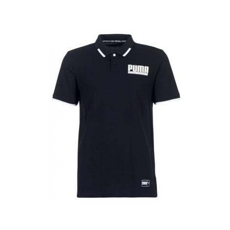 Black men's sports polo shirts