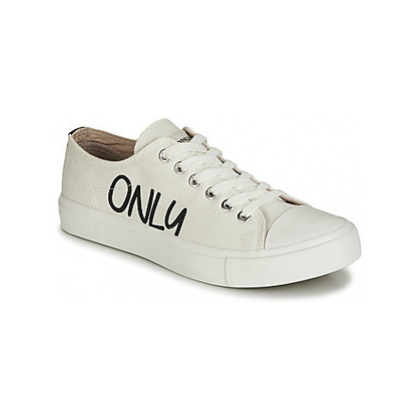 Only SURI CANVAS women's Shoes (Trainers) in Beige